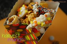 Fall Harvest Munch! This looks like a yummy fall snack mix!