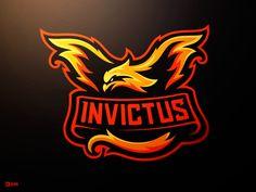 Invictus Phoenix Mascot Logo by Derrick Stratton