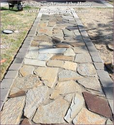 Flagstone Patio 2019 Exterior Irregular Flagstone Walkway Flagstone Front Walkway Installing Flagstone Walkway Flagstone Walkway for Decorating a Gorgeous Patio Spaces The post Flagstone Patio 2019 appeared first on Patio Diy. Stepping Stone Pathway, Stone Garden Paths, Flagstone Walkway, Backyard Walkway, Patio Steps, Front Walkway, Concrete Patio, Diy Patio, Backyard Ideas
