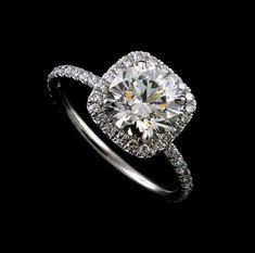 Diamond white great square black kohls earrings