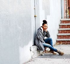 Boots with fleece lining make everything better, right @ericalave? #moderntrail #timberland
