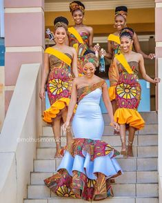 2020 Inspirational African Fashion Styles That Are Classic For Latest Ovation Styles in Vogue African Print Wedding Dress, African Bridesmaid Dresses, African Wedding Attire, Latest African Fashion Dresses, African Dresses For Women, African Attire, African Weddings, Ankara Fashion, Nigerian Weddings