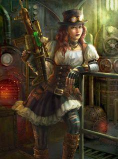 Steampunk Warrior, Utako Oelze on ArtStation at https://www.artstation.com/artwork/steampunk-warrior-6423b03f-d1ec-4b40-8e2c-7a01825e9364. #steampunk #victorian #gosstudio  . (Best Gifts online: http://www.zazzle.com/vintagestylestudio)