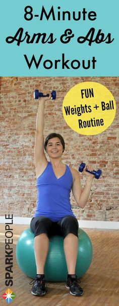 Have 8 minutes to spare? Sure you do! Try this easy, fun and effective arms and abs workout. Your upper half will thank you.