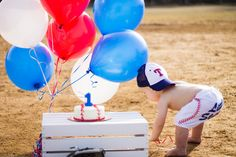 Baseball Themed First Birthday Session