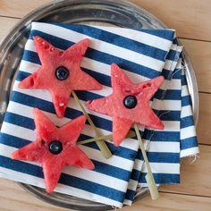 Boozy (or not) Watermelon Stars. http://domesticfits.com/2012/06/06/boozy-or-not-watermelon-stars/