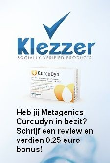 Heb jij de Metagenics Curcudyn caps in bezit? Verdien 0,25 euro bonus door het schrijven van een review over de Metagenics Curcudyn caps!