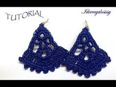 DIY TUTORIAL ENG/ITA ORECCHINI uncinetto VENTAGLIO PARTE 1 DI 2 HOW TO CROCHET EARRINGS - YouTube