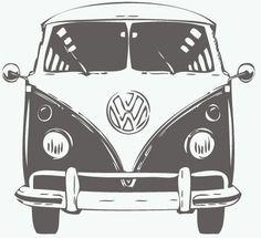 Muursticker Volkswagen T1 Front
