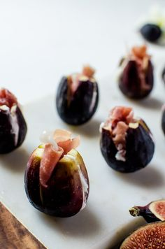 Prosciutto stuffed figs with honey goat cheese are an irresistible end-of-summer appetizer to pair with your next get together!