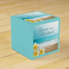 Plumeria Beach Tropical Island Wedding Favor Boxes