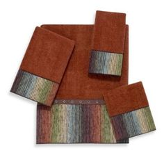 Avanti Cheyenne Bath Towels in Copper - BedBathandBeyond.com