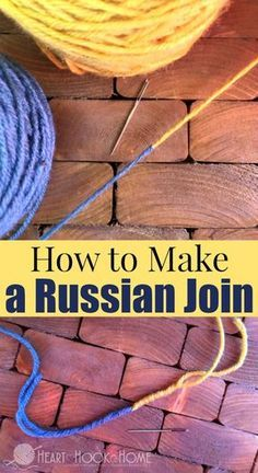 Crochet Tutorial Patterns How to Make a Russian Join Video and Written Tutorial - Ready to take your crochet and knitting up a notch with the Russian Join? One thing (the only thing) I hate about crocheting is having to weave in yarn ends. Crochet Basics, Knitting For Beginners, Crochet Crafts, Crochet Yarn, Crochet Projects, Free Crochet, Knitting Projects, Joining Yarn Crochet, Doilies Crochet