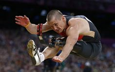 Germany's Wojtek Czyz wins silver in the men's long Jump F42/44 classification final during the London 2012 Paralympic Games at the Olympic Stadium Aug. 31.  (Photo: Eddie Keogh / Reuters)