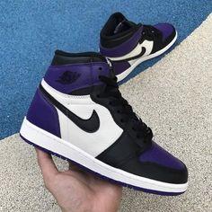 Jordan 1 Court Purple Size 9 for Sale in Tucson, AZ - OfferUp Purple Sneakers, Purple Nikes, Purple Trainers, Swag Shoes, On Shoes, Shoes Sneakers, Nike Air Shoes, Nike Air Max, Jordan Shoes Girls