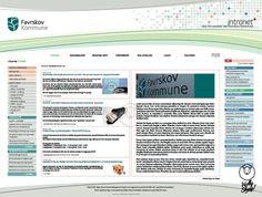 Favrskov municipality intranet page