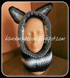 HandmadeBoni: Kaptur - czapka z uszami dla chłopczyka. Zrób  raz...