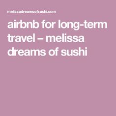airbnb for long-term