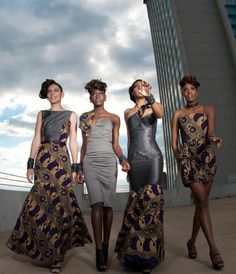 Far left ♥ Afro Chic Winter 2009 African Inspired Fashion, African Print Fashion, Africa Fashion, Ethnic Fashion, African Prints, Ankara Fashion, African Fabric, Fashion Dresses, African Attire
