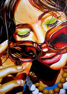 Sunnies by Steve Smith  Artist Biography    Steve was born in 1975. He lives in the North West of England and has been painting professionally for ten years. He is self taught, with no formal art training.