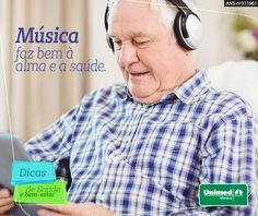 A música ajuda a prevenir e frear o desenvolvimento do Alzheimer. Pacientes tiveram melhoras ao ouvir músicas que marcaram suas vidas. #unimedmanaus