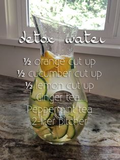 Recipe for detox water, get rid of bloating gas and water retention. Prescription for detox water, getting rid of bloating and water retention. Water Recipes, Detox Recipes, Fun Recipes, Drink Recipes, Dinner Recipes, Detox Water For Clear Skin, Water Retention Remedies, Getting Rid Of Bloating, Peppermint Tea