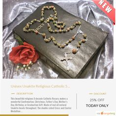 Today Only! 25% OFF this item.  Follow us on Pinterest to be the first to see our exciting Daily Deals. Today's Product: Deal of the Day - Unisex Unakite Religious Catholic 5 Decade Rosary, Confirmation, Christmas, Father's Day, Mother's Day, Birthday, Graduati Buy now: https://www.etsy.com/listing/476936062?utm_source=Pinterest&utm_medium=Orangetwig_Marketing&utm_campaign=Deal%20of%20the%20Day   #etsy #etsyseller #etsyshop #etsylove #etsyfinds #etsygifts #musthave #loveit #instacool #shop…