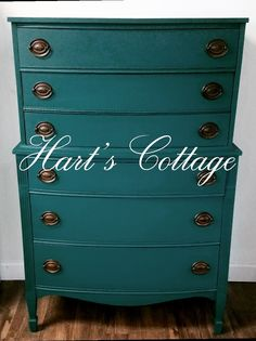 Federal style dresser painted by @harts cottage in Neptune -Wise Owl Chalk Synthesis Paint  Www.wiseowlpaint.com