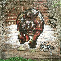 """Rhino Féroce"" par @espion_graff #streetart #streetartist #streetartmontreuil #streetphoto #streetart_daily #streetarteverywhere #streetartandgraffiti #urbanart #urbanwalls #urbanartist #urbanexploration #graff #graffiti #graffitiwall #instagraff #graffart #artporn #montreuilgraffiti #montreuilzoo #wall #wallpornart #bombing #collage #pochoir #sticker Place du Général de Gaulle #montreuil"