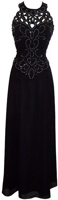 Black plus size long cocktail evening party dress