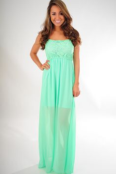 Just Enough Time Dress: Mint