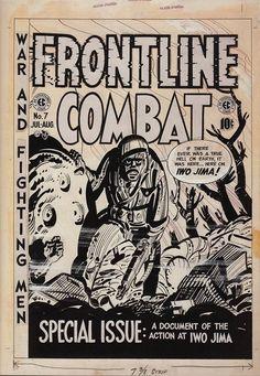 Harvey Kurtzman. Cover art. Frontline Combat #7. 1952.