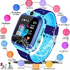 🥇Buy Watches ✅ 2019 New Smart watch LBS Kid SmartWatches Baby Watch for Children SOS Call Location Finder Locator Tracker Anti Lost Monitor+Box ~ smart watch sport watch Sport Watches, Cool Watches, Watches For Men, Gps Watches, Popular Watches, Unusual Watches, Analog Watches, Child Phone, Location Finder