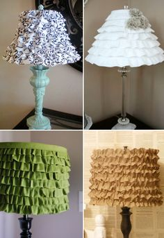 Rrrruffles have rrridges!  :D  Cool Lamp Shade Ideas  http://www.kidskubby.com/cool-lampshade-ideas/