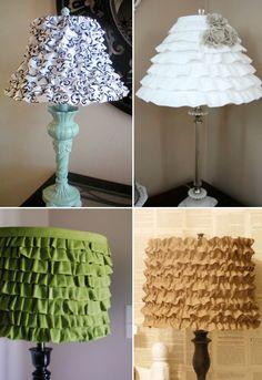 diy ruffle lampshades