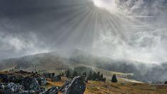 Wolkenstimmung am Wölkerkogel #Wolken #Clouds #Styria #Austria #Sun #landscape #Fog #Beautiful Land Scape, Beautiful, Landscapes, Mood, Clouds, Nature
