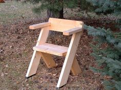 DIY Chair for the Great Outdoors (Use pallet wood - for child) Outdoor Furniture Plans, Pallet Furniture, Diy Wood Projects, Wood Crafts, Outdoor Wood Projects, Diy Crafts, Diy Chair, The Great Outdoors, Woodworking Projects
