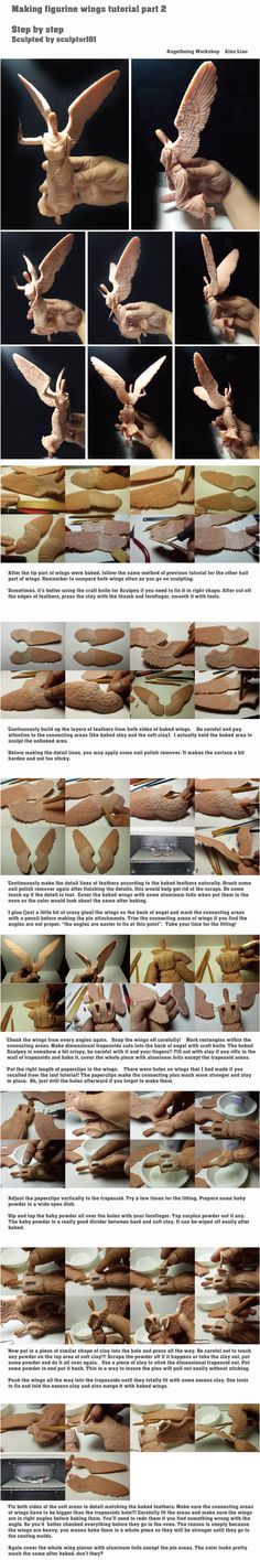 Figurine WIP/ tutorial part 4 wings by sculptor101.deviantart.com on @deviantART