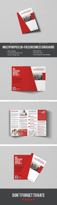 Multipurpose BiFold Business Brochure — Photoshop PSD #multipurpose #creative brochure • Available here → https://graphicriver.net/item/multipurpose-bifold-business-brochure/14453605?ref=pxcr