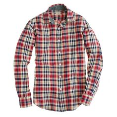 J.Crew Indian cotton shirt in Lexden plaid