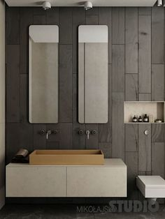 Beton im Bad: moderne Badezimmer von MIKOLAJSKAstudio