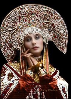Anna Pavlova in Russian Costume, 1911 - Olga Anna Pavlova, Russian Beauty, Russian Fashion, Folklore, Mode Russe, Russian Culture, Russian Ballet, Russian Folk, Russian Style