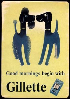 hilarious vintage.  illustrated by Tom Eckersley. #guillette