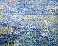 Steamboats-Rotterdam-1906 - Paul SIGNAC
