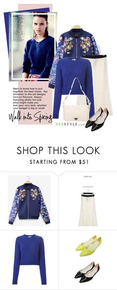 """""""YesStyle - Spring Fashion"""" by beebeely-look ❤ liked on Polyvore featuring Emma Watson, UPTOWNHOLIC, MSGM, migunstyle, Salvatore Ferragamo, women's clothing, women, female, woman and misses"""