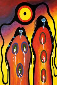 Sunrise Ceremony by Frank Polson. Cultural Background: Algonquin, Long Point First Nations, QC Native American Paintings, Native American Artists, Southwest Art, Canadian Art, American Indian Art, Arte Popular, Indigenous Art, Aboriginal Art, Native Art
