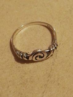 Vikinge spiral ring -lille, fra fund ved Fåborg på Fyn. Sølv  150kr