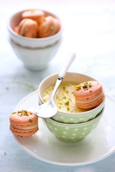 A bright, tasty Grapefruit Pistachio Macaron recipe at Cannelle et Vanille