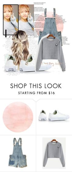 """""""date with taehyung"""" by kkaepjjangwinter ❤ liked on Polyvore featuring Converse and Hollister Co."""