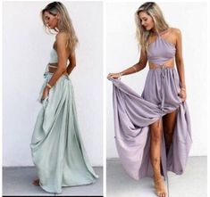 2 Piece Prom Gown,Two Piece Prom Dresses,Evening Gowns,2 Pieces Party Dresses,Chiffon Evening Gowns,Formal Dress,Sparkly Evening Gowns For Teens
